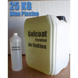 Gelcoat Bleu Piscine / Topcoat  25KG