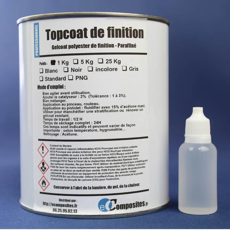 Topcoat / Gelcoat de finition paraffiné 1KG